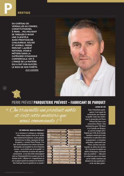 Le monde des artisans Parqueterie Prévost page 1