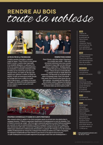 Le monde des artisans Parqueterie Prévost page 2